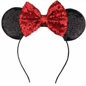 ❤️🖤SPARKLY MINNIE MOUSE EARS!  $35 at Disneyland!